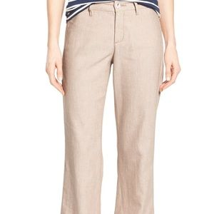 NYJD • Claire Linen Blend Wide Leg Trousers